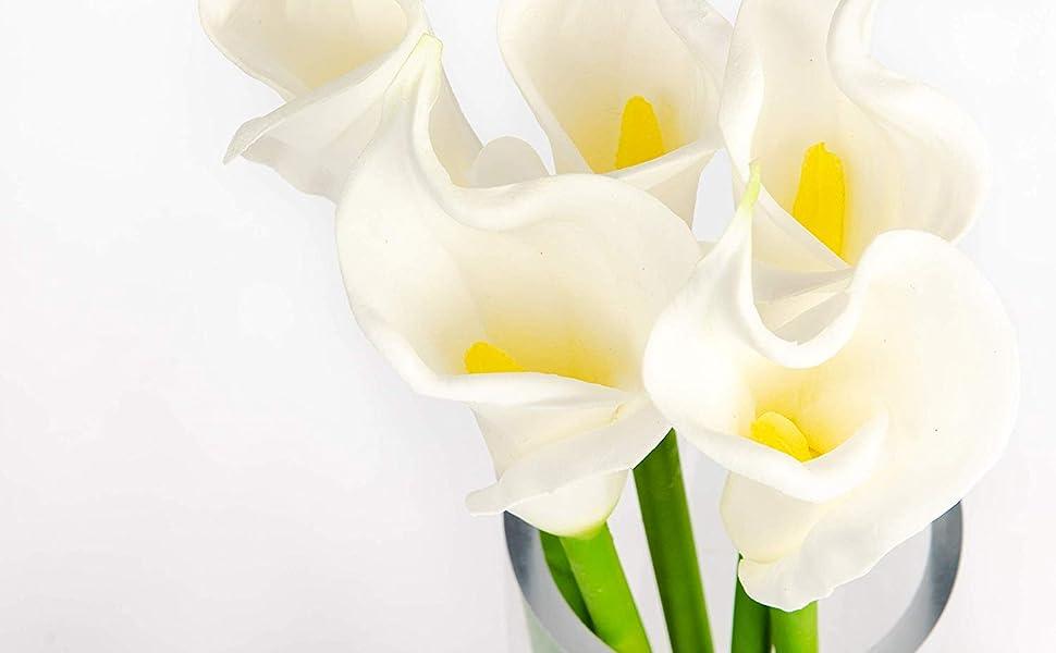 """25"""" white calla lily"""