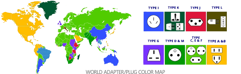 travel adapter map