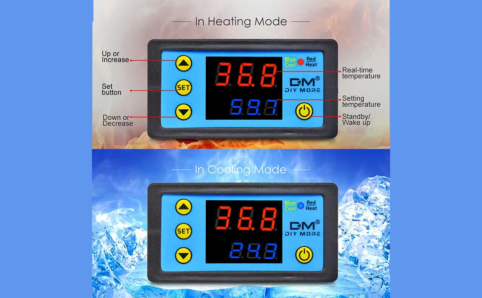 Digital Temperature Controller Temp Sensor Thermostat Control 220V USA T4W1