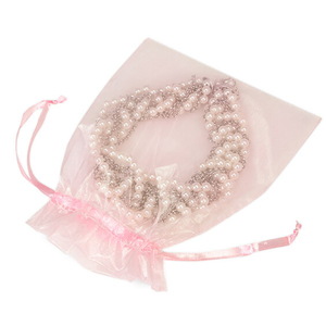 Pink jeweler bags