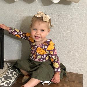 Toddler Thanksgiving Pumpkin Dress