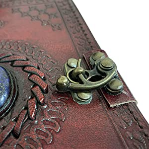 Unique Leather Journal handwriting drawing sketching compact carrying bag Handmade Writing Notebook