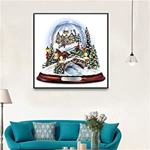 EOBROMD 5D DIY Diamond Painting Crystal Ball 12x12 Embroidery Paint with Diamonds Wall Sticker for Wall Decor