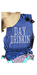 Women's Day Drinking Casual Tank Tops