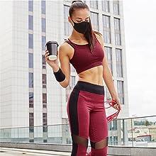 sport yoga face mask for women