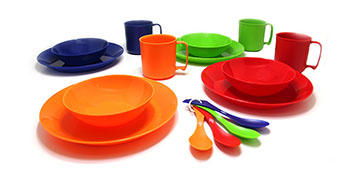Smidge 28 Piece 4-Person Camping//Picnic Large Plate Healthy Plastic-Free Sustainable /& Eco-friendly and Beautifully Designed BPA-free Bowl Melamine-Free /& Biodegradable Mug /& Cutlery Reusable
