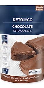 Keto and Co Chocolate Cake Mix