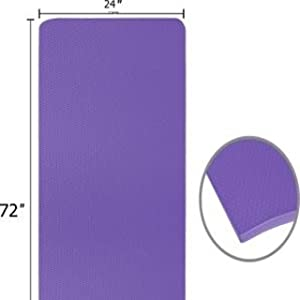 yoga mat size and durable surface