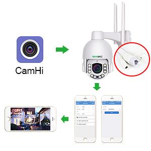 setup wifi ptz camera on phone app
