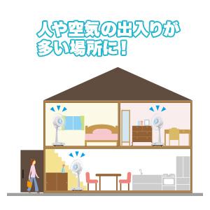 部屋の中央、玄関、ドア、窓におすすめ