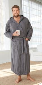 KingSize Mens Big /& Tall Tall Terry Bathrobe with Pockets