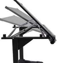 Stand Up Desk Store manual height adjustable drawing drafting table ergonomic office black