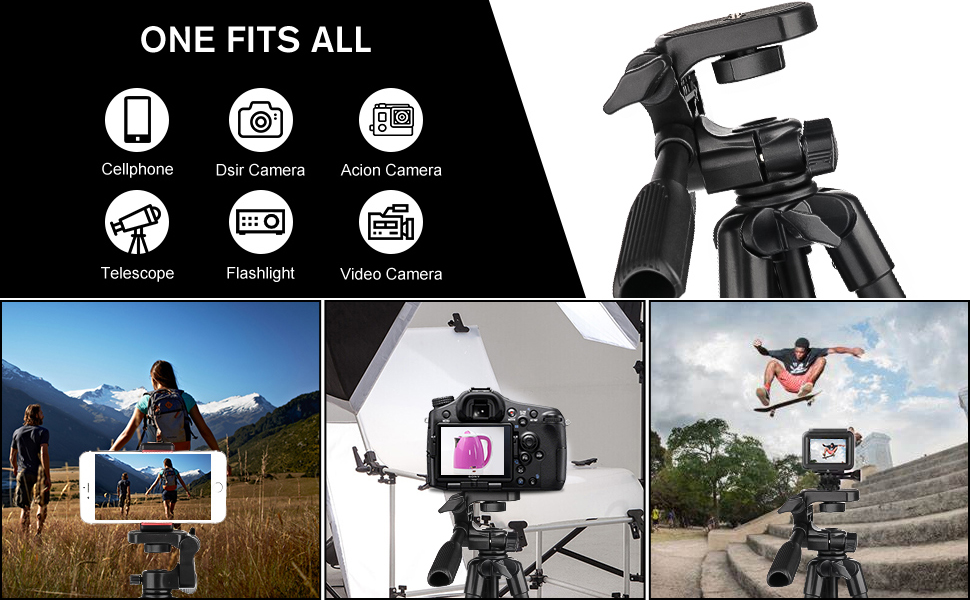Camera Tripod , Tripod for GoPro , Tripod for Phone , Photography Tripod ,