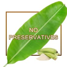 No preservatives no starch healthy atta powder infant raw banana multigrain
