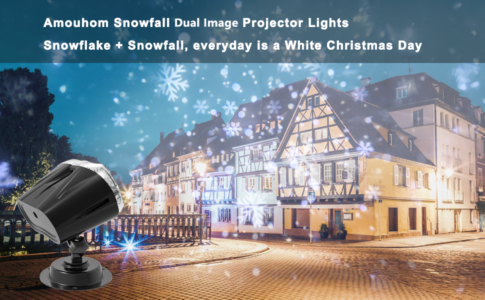 Amouhom Snowfall Projector