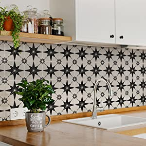 Wall Tile Decals Peel and Stick Tile Stickers Waterproof Backsplash Stickers for Kitchen Decor