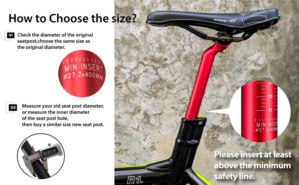 Alumium Seatpost MTB Bicycle Seat Post 27.2//30.8//31.6 X //350//400mm Carbon Fiber