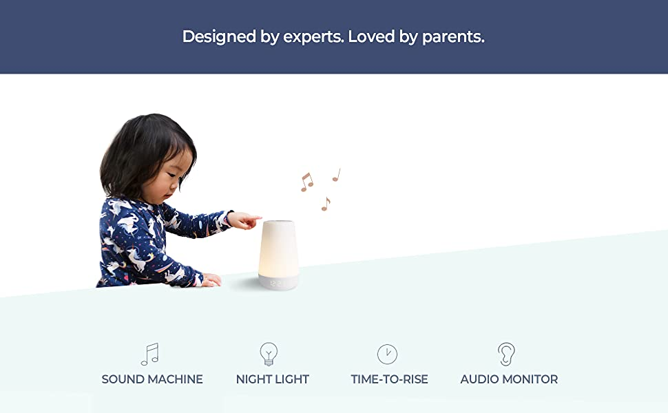 night lights for kids, hatch baby rest sound machine, night light and time-to-rise