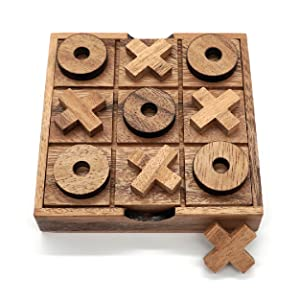 Tic Tac Toe Wood Coffee Tables Family Games to Play and a Classic Game Home Decor for Living Room