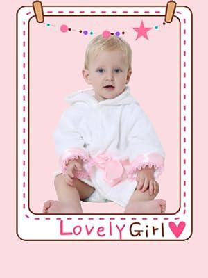 Yilaku Baby Animal Face Hooded Bathrobe Kids Coral Fleece Bathrobe Cartoon Animal Pajamas Sleepwear Bath Wrap