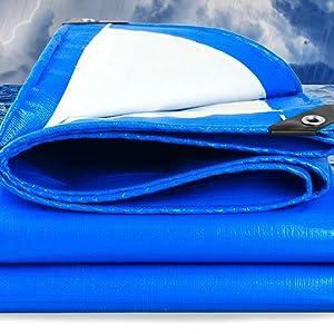 2x3m//6.5x10ft WOLTU PE Tarpaulin Waterproof Heavy Duty Tarp Sheet Cover with Eyelets for Garden Furniture Car Trampoline Green Wood Camping or Gardening 180g//m/² Hutch