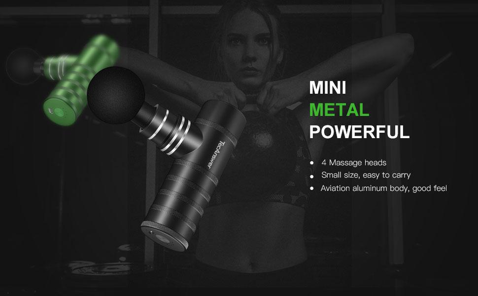 Mini metal massage gun