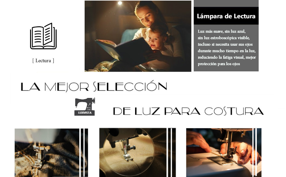 Luxvista Lámpara de Costura 21 LED Máquina de Coser Luz de Trabajo ...