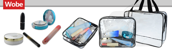 5 Packs Clear Cosmetics Bags