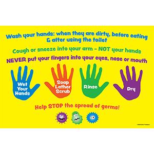 Kids Hand Washing Poster
