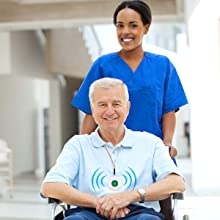elderly button alert seniors monitor senior call buttoncaregiver pager wireless