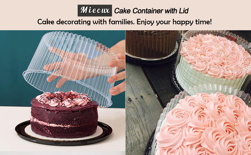 4pack Cakesupplyshop 10-11inch Cake Double Layer Clear Cake Container Dome and Base Carry /& Display Storage Box