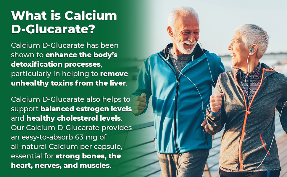 Zazzee Calcium D-Glucarate provides an highly absorbable 63 mg of all-natural calcium per capsule.