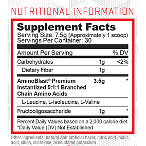 Everyday Amino Nutritional Facts