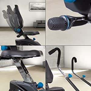 Adjustable seat back, seat height, resistance and handle positioning