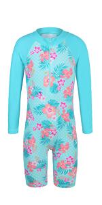 one piece long sleeve swimsuit zip