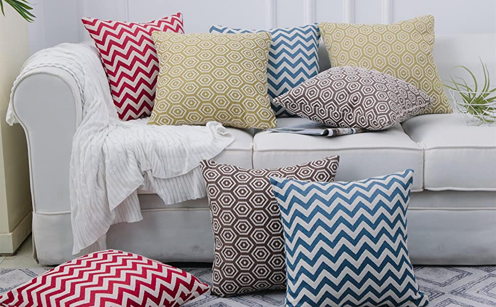 SUNSHINE FASHION THROW PILLOW COVERS: