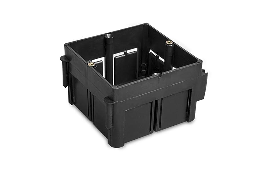 LEDKIA LIGHTING Caja Universal de Empotrar Enlazable 65x65x45 mm PCPC: Amazon.es: Bricolaje y herramientas