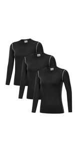 Women's 3 Pack Compression Shirts