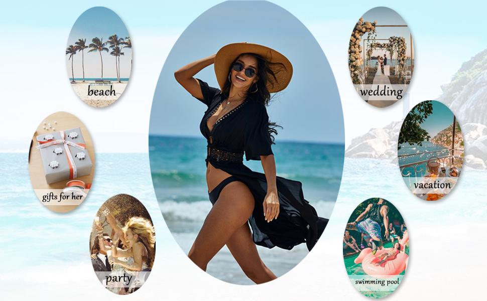 Bathing Coverups Women Summer Swim Cover Up Sexy Midi Bikini Beachwear