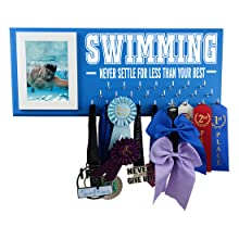 swimming medal picture display gifts swimmers sports hanger rack