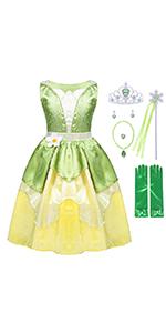 GREEN DRESS FOR GIRLS