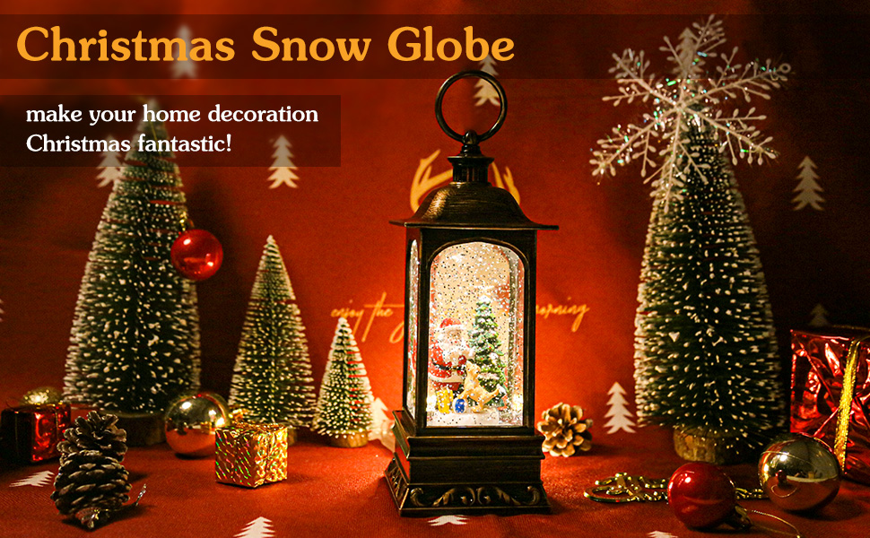 Christmas snow globe light