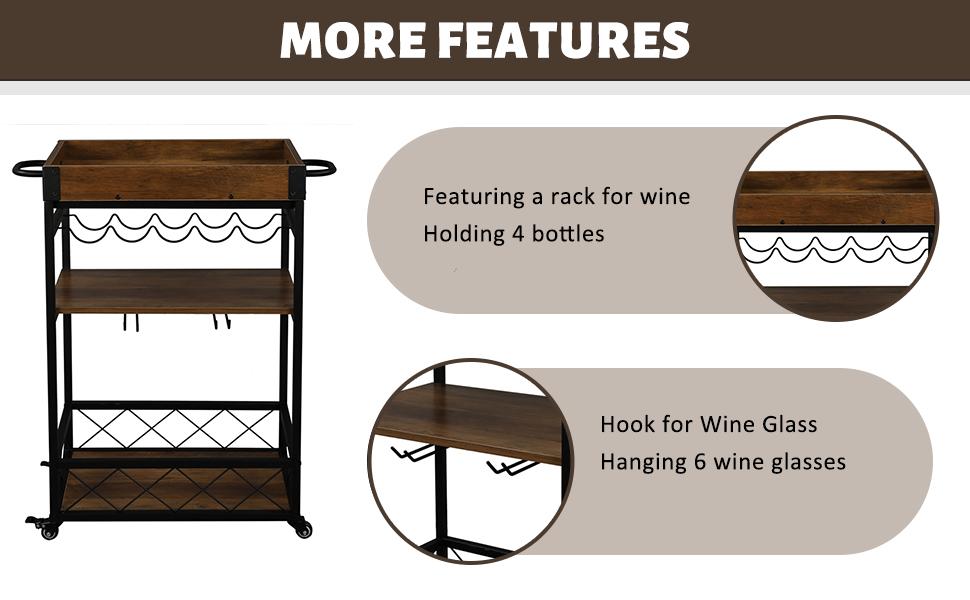 kitchen bar cart