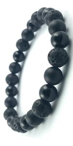 Domog, bracelet pierre naturelle, bracelet homme, bracelet noir