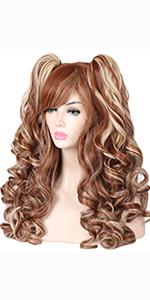 brown blonde wig