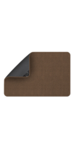 House Home and More Attachable Landing Rug Decor Hook and Loop Toffee Brown
