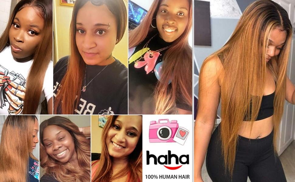 T1B/30 Ombre Brazilian Straight Hair Bundles