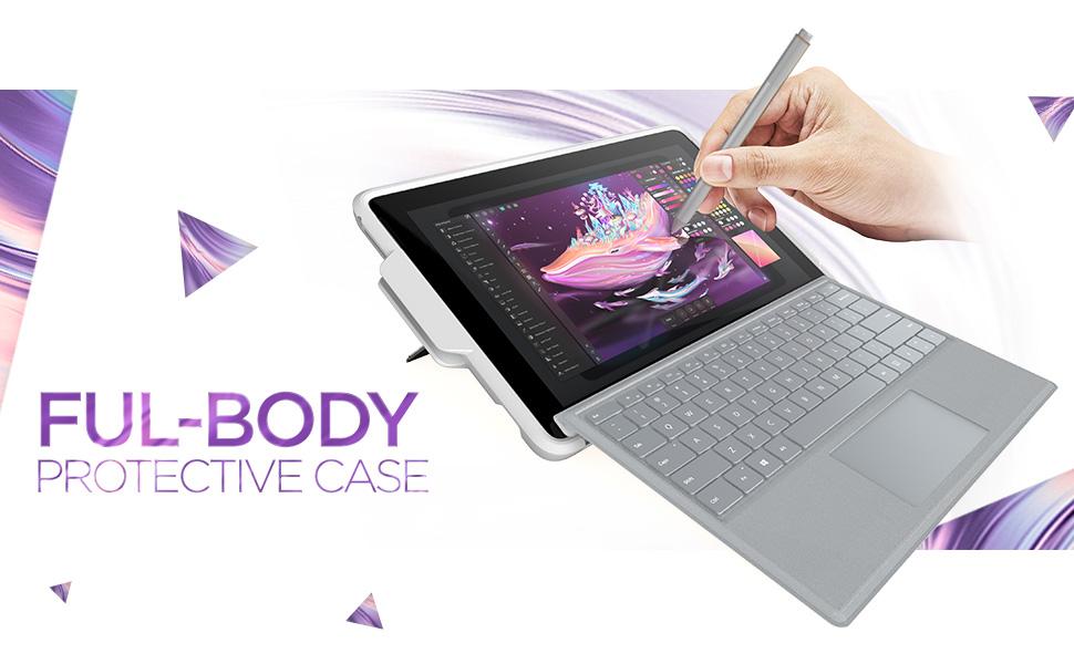 Surface Pro 5  6 Case i-Blason Cosmo Slim Glitter Protective Bumper Case Cover with Pen Holder