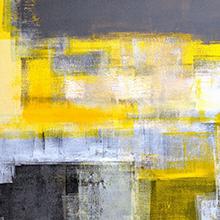 abstract yellow canvas wall art