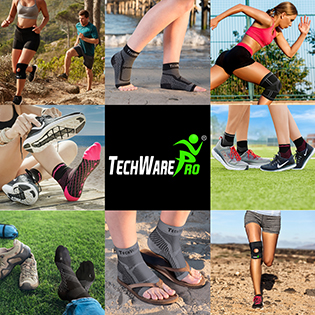 TechWare Pro - knee braces, knee sleeves, ankle braces, running socks, mens compression socks